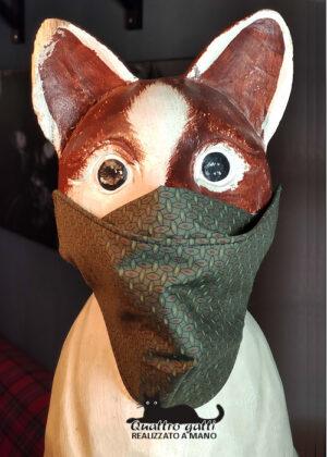 mascherina coprinaso verde salvia fantasia